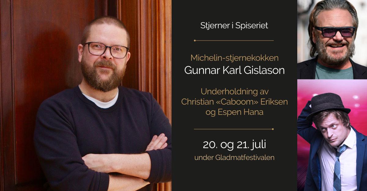 Stjerner i Spiseriet Gunnar Karl Gislason, Christian Eriksen og Espen Hana